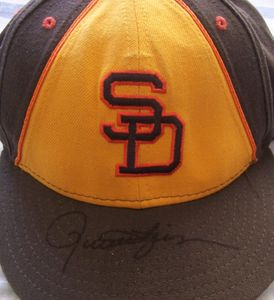 Rollie Fingers autographed San Diego Padres authentic throwback game model cap
