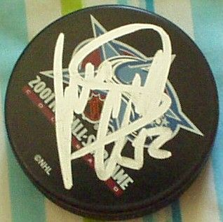 Roman Cechmanek autographed 2001 NHL All-Star Game puck