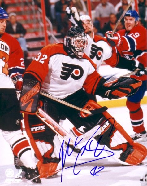 Roman Cechmanek autographed 8x10 Philadelphia Flyers photo