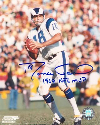 Roman Gabriel autographed Los Angeles Rams 8x10 photo inscribed 1969 NFL MVP