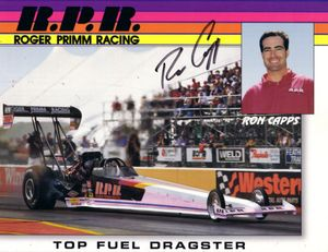Ron Capps autographed 8x10 NHRA photo card