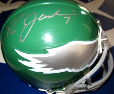 Ron Jaworski and Wilbert Montgomery autographed Philadelphia Eagles throwback mini helmet