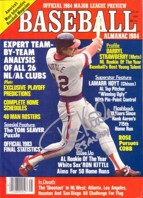 Ron Kittle autographed Chicago White Sox Baseball Almanac magazine inscribed 83 AL ROY