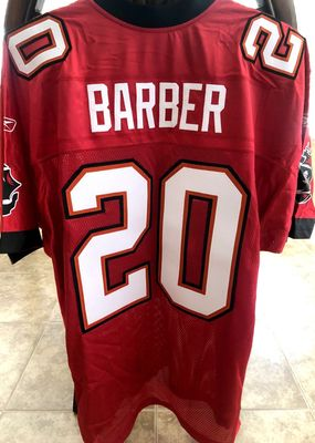 Ronde Barber Tampa Bay Buccaneers authentic Reebok red triple stitched jersey