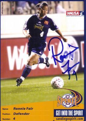 Ronnie Fair autographed WUSA San Diego Spirit 5x7 photo