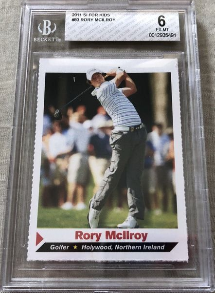 Rory McIlroy 2011 Sports Illustrated for Kids golf Rookie Card graded BGS 6 ExMt