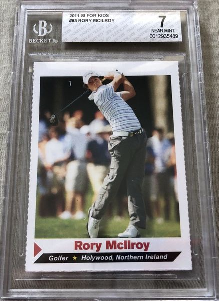 Rory McIlroy 2011 Sports Illustrated for Kids golf Rookie Card graded BGS 7 NrMt