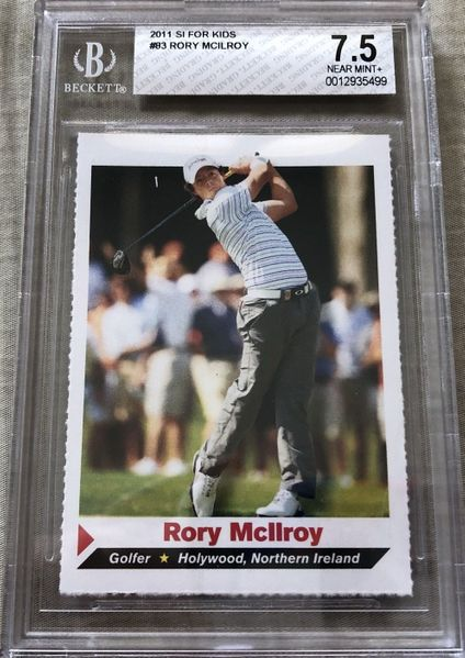 Rory McIlroy 2011 Sports Illustrated for Kids SI golf Rookie Card graded BGS 7.5 NrMt+