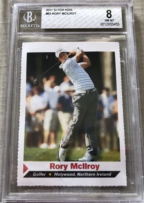 Rory McIlroy 2011 Sports Illustrated for Kids golf Rookie Card graded BGS 8 NrMt-Mt