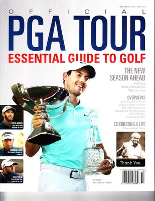 Rory McIlroy 2016 PGA Tour Essential Guide to Golf magazine