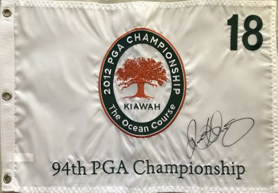 Rory McIlroy autographed 2012 PGA Championship embroidered golf pin flag