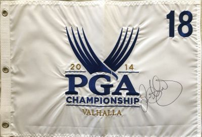 Rory McIlroy autographed 2014 PGA Championship Valhalla embroidered golf pin flag