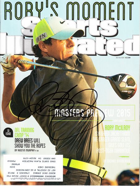 Rory McIlroy autographed 2014 Sports Illustrated magazine