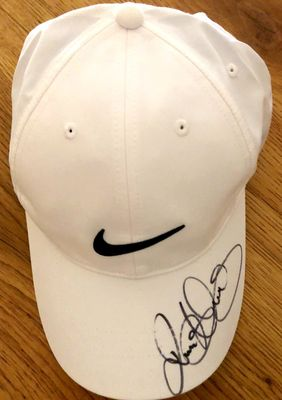 Rory McIlroy autographed white Nike golf cap or hat