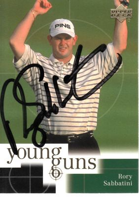 Rory Sabbatini autographed 2001 Upper Deck golf Rookie Card