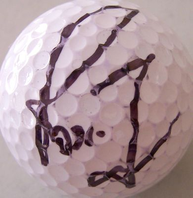 Rosie Jones autographed golf ball