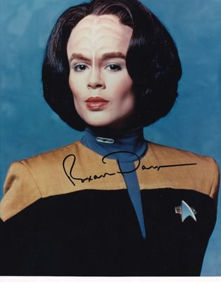 Roxann Dawson autographed Star Trek Voyager 8x10 photo