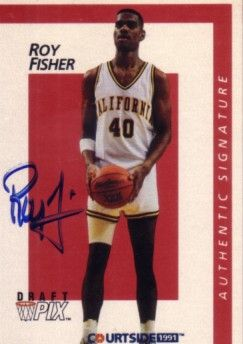 Roy Fisher certified autograph Cal Bears 1991 Courtside card