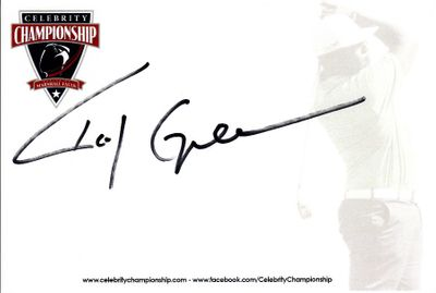 Roy Green autographed 4x6 signature card