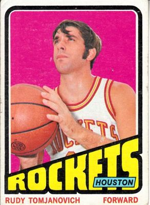 Rudy Tomjanovich Houston Rockets 1972-73 Topps card #103