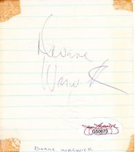 Rudy Vallee & Dionne Warwick autographs or cut signatures (2 sided) JSA