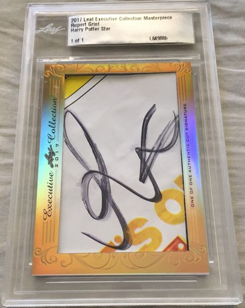 Rupert Grint 2017 Leaf Masterpiece Cut Signature certified autograph card 1/1 JSA Ron Harry Potter