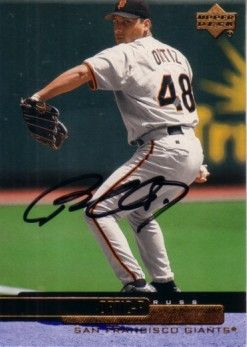 Russ Ortiz autographed San Francisco Giants 2000 Upper Deck card