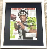 Russell Wilson autographed Seattle Seahawks 2013 ESPN Magazine cover matted and framed (JSA)