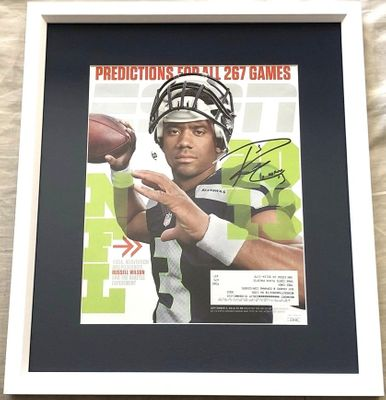 Russell Wilson autographed Seattle Seahawks 2013 ESPN Magazine cover framed JSA