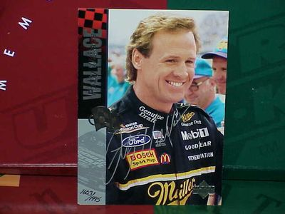 Rusty Wallace autographed NASCAR 5x7 photo card UDA ltd edit 1995