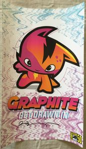 Ryan Benjamin autographed Graphite Get Drawn In 2019 Comic-Con exclusive poster