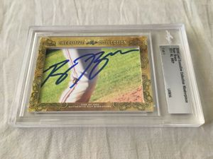 Ryan Braun 2018 Leaf Masterpiece Cut Signature certified autograph card 1/1 JSA