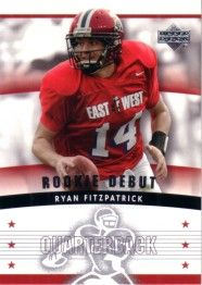 Ryan Fitzpatrick Harvard 2005 Upper Deck Rookie Debut Rookie Card
