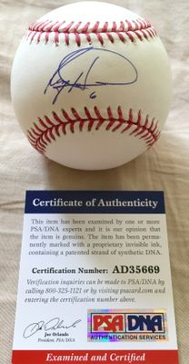 Ryan Howard autographed MLB baseball (PSA/DNA)