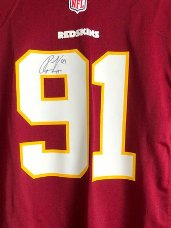 Ryan Kerrigan autographed Washington Redskins authentic Nike replica jersey