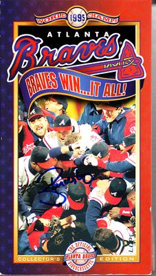 Ryan Klesko autographed 1995 Atlanta Braves Win It All VHS video
