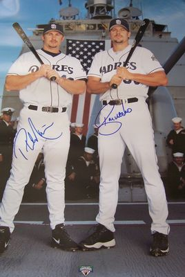 Ryan Klesko & Phil Nevin autographed San Diego Padres 2002 18x24 poster