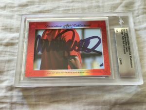 Ryne Sandberg and Ron Santo 2017 Leaf Masterpiece Cut Signature certified autograph card 1/1 JSA