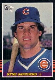 Ryne Sandberg Chicago Cubs 1985 Donruss box bottom card