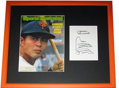 Sadaharu Oh autographed shikishi board matted and framed with 1977 Sports Illustrated cover (JSA)