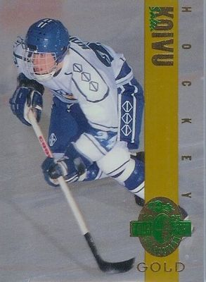 Saku Koivu 1993 Classic 4-Sport Gold card (1 of 3900)
