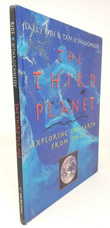 Sally Ride autographed The Third Planet hardcover photo book (water damage)