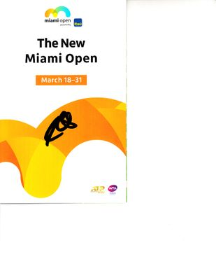 Sam Querrey autographed 2019 Miami Open tennis tournament map and program