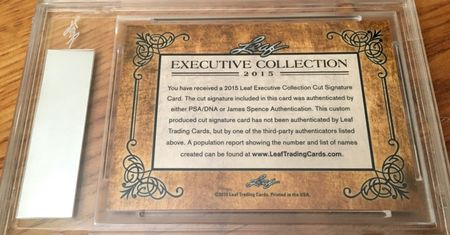 Sam Snead 2015 Leaf Masterpiece Cut Signature certified autograph card 1/1 PSA