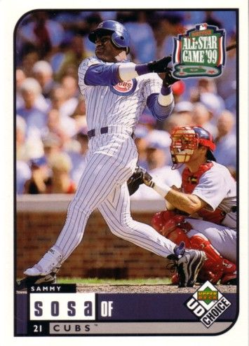 Sammy Sosa Chicago Cubs 1999 Upper Deck All-Star Game jumbo card
