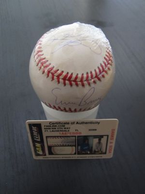 Sammy Sosa & Ernie Banks autographed Rawlings National League baseball (Fan Link)