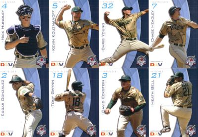 San Diego Padres 2009 DAV 8 card set (Heath Bell Tony Gwynn Jr Nick Hundley)