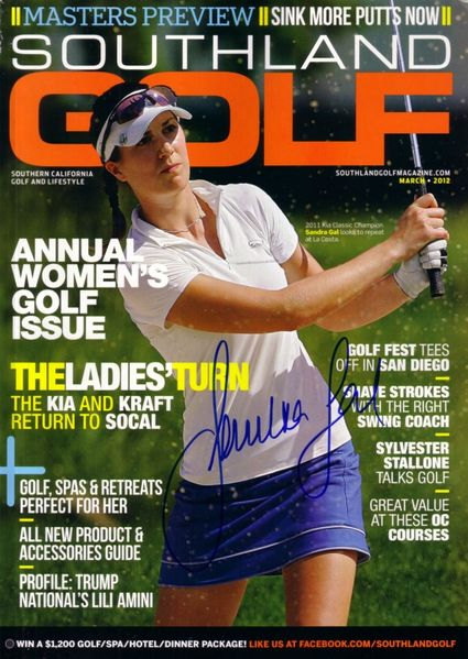 Sandra Gal autographed 2012 Southland Golf magazine