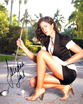 Sandra Gal autographed sexy 8x10 golf photo