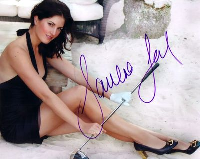 Sandra Gal autographed sexy 8x10 photo